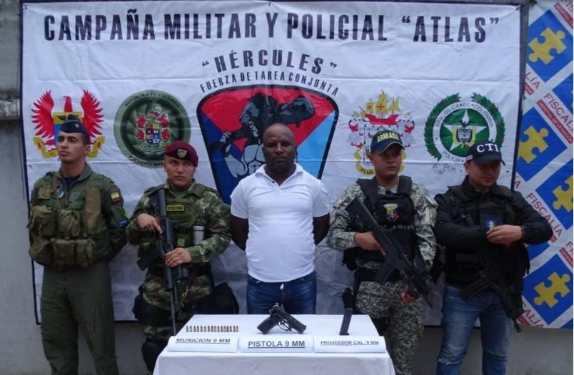 Capturado en Tumaco alias 'Máquina' jefe de 'finanzas' de 'Guacho'