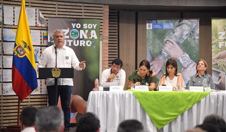 """Duque lanzo """"zonas futuro"""" para continuar su lucha contra los cultivos ilícitos"""