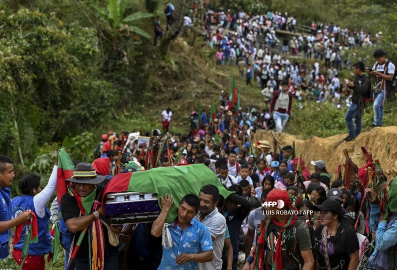 Se cumplieron las honras funebres de Indigenas asesinados en el Cauca