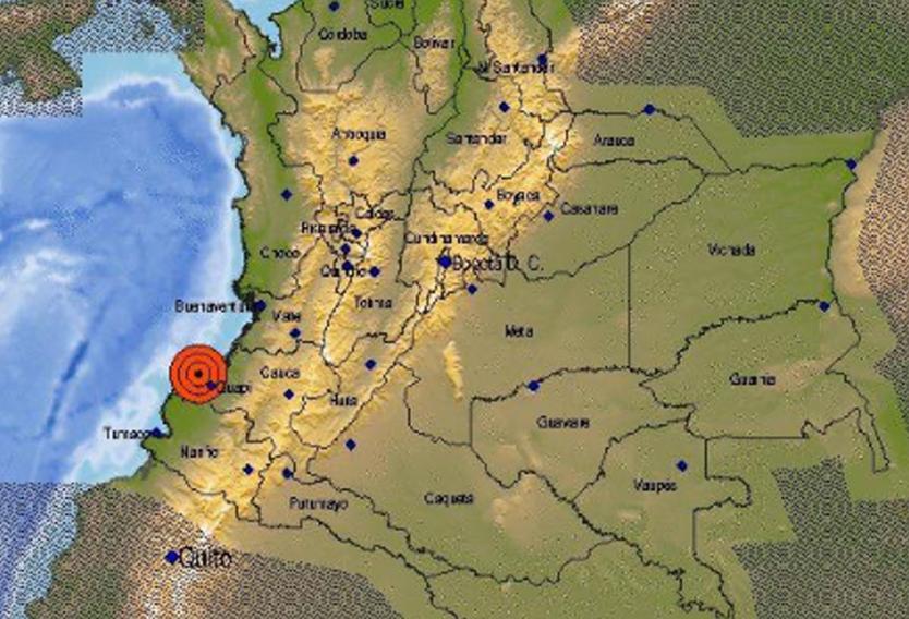 El Servicio Geológico Colombianoreportó un sismo en la región del Pacifico