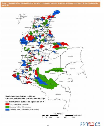 Informe sobre violencia politica en Colombia