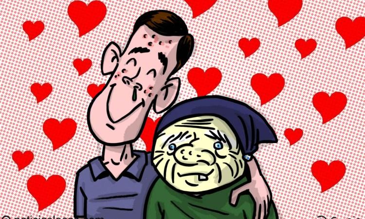 NOTA CURIOSA: Se casa con una mujer de 81 años para evitar el servicio militar