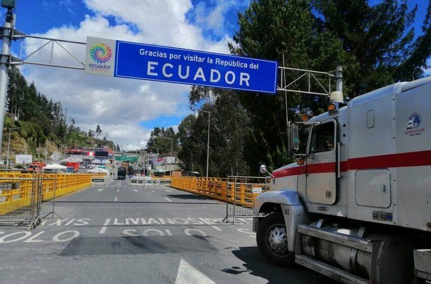 Ecuador propuso un protocolo binacional para abrir las fronteras con Colombia cerradas por el COVID-19